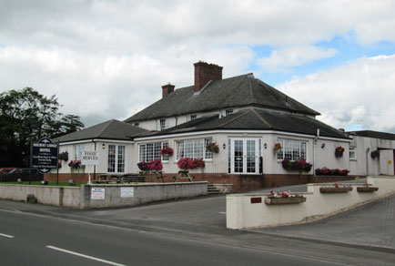Outside view of the Solway Lodge Hotel, Gretna